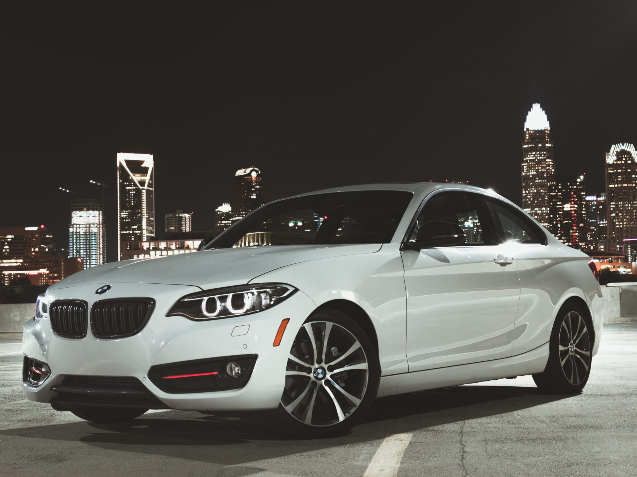 silver BMW coupe