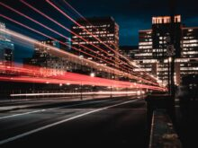 long exposure photography of road and cars