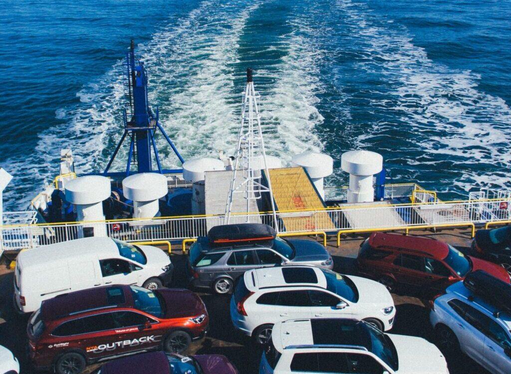 vehicles on cargo ship
