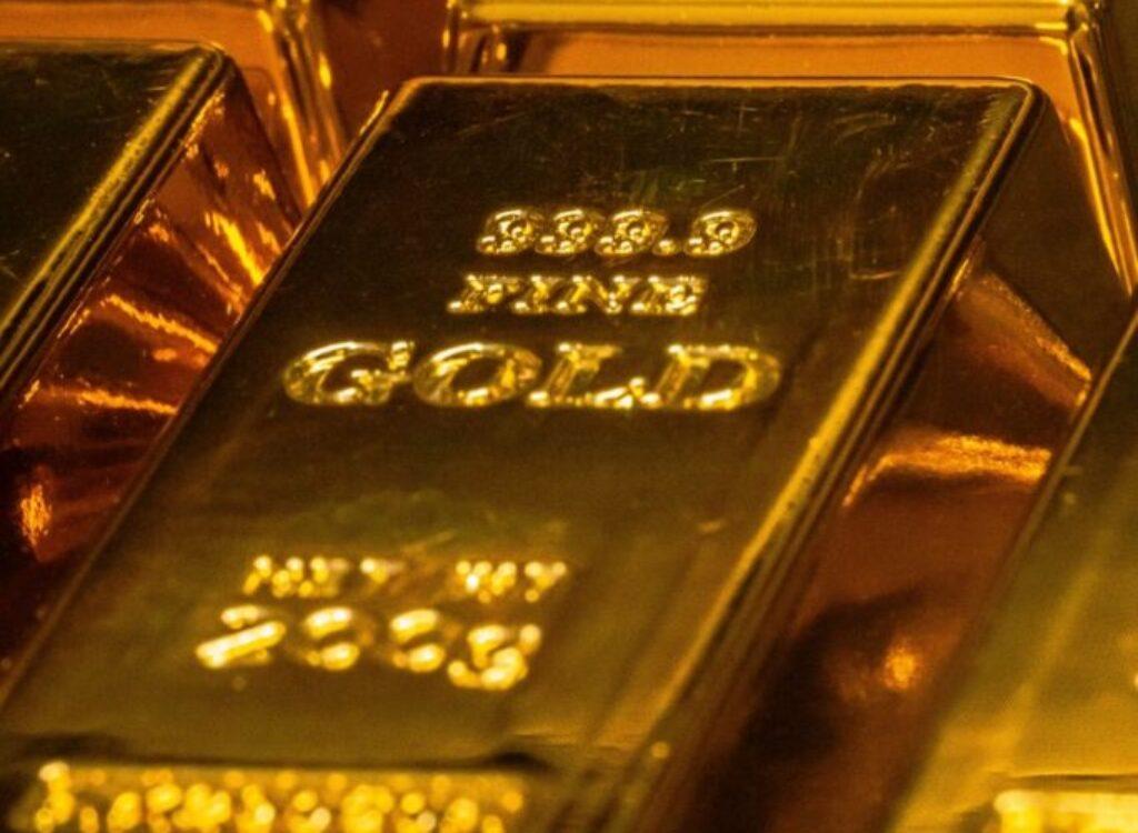 gold and black rectangular case